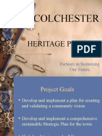 Colchester VT Heritage Project Presentation 12_07_2010