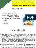 Sociolinguística Aspectos Legais Envolvidos Na Coleta de Dados Linguísticos