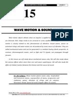 Wave Motion Sound Wave