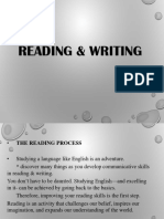 READING & WRITING INTRODUCTION