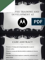 1st group seminar ppt employee training and development at motorola