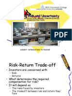 10 Risk and Uncertainty~INTRODUCTION TO FINANCE FOR SEGi DIA, DIBA, DIM