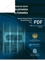 Aspectos Juridicos Del Delito de Trata de Personas en Colombia