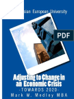 Adjusting- to -Change- in -an- Economic- Crisis -by-Mark -W- Medley