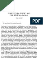 Aijaz Ahmad - Post Colonial Theory