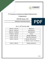 5th NADR, 2020 - Schedule for Participants