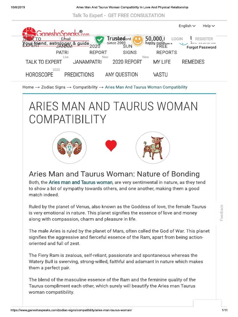 Relationship compatibility taurus Taurus and