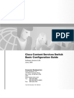 Cisco CSS Basic Configuration Guide