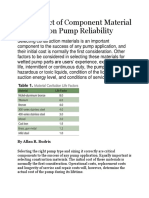 The Impact of Component Material Selection on Pump Reliability