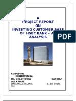 Investing Customer Base of HSBC Bank an Analysis