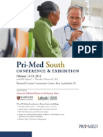 Pri-Med South 2011 Brochure