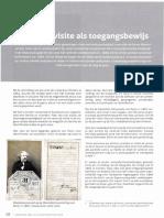 Vlaamse Stam 2018-1 Carte-De-Visite Als Toegangsbewijs