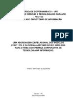 UMA ABORDAGEM CORRELACIONAL DOS MODELOS COBIT  ITIL E DA NORMA ABNT NBR ISO IEC 38500 PARA O TEMA GOVERNANÇA CORPORATIVA DE TECNOLOGIA DA INFORMAÇÃO.