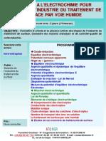 Formation Continue Initiation a Electrochimie Pour Salaries Industrie Traitement de Surface
