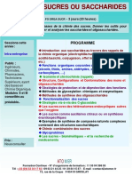 Formation Continue Chimie Organique Des Sucres Saccharides