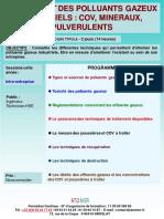Formation Continue Traitement Polluants Gazeux Industriels COV Pulverulent