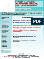 Formation Continue Caoutchoucs Elastomeres Types Formulation Mise en Oeuvre