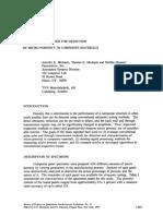 Ultrasonic Methods for Detection of Micro Porosity in Composite M