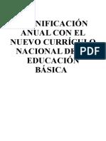 PLANIFICACION CURRICULAR MODELO 3° GRADO