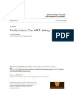 Family Centered Care in ICU Settings