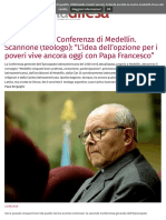 A 50 anni dalla Conferenza di Medellín. Scannone (teologo)