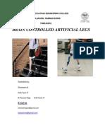 Brain Controlled Artificial Legs