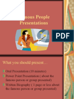 Famous People Presentations
