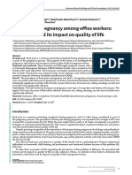 Back Pain in Pregnancy Among Office Workers Risk Factors and Its Impact on Quality of Life.