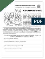 produção carnaval