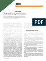 Primum Non Nocere Privacidad y Autonomia