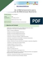 Acção de Formação Biblioteconomia