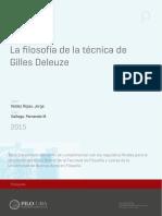 (tesis doctoral) Valdez Rojas - La filosofía de la técnixa de Gilles Deleuze