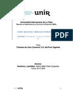 Tratados de Libre Comercio TLC del Perú Vigentes