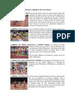 TIPOS DE CARRERAS DE VELOCIDAD