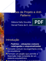 Padroes de Projeto e Anti-Patterns