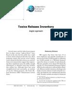 Angela Logomasini - Toxics Release Inventory