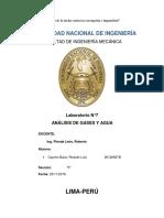 CARÁTULA AGUA Y ANALISIS DE GASES