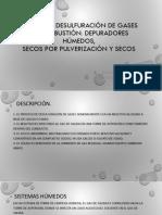 SCRUBBERS DESULFURACIÓN DE GASES DE COMBUSTIÓN