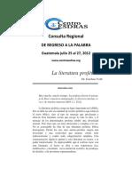 VOTH Esteban - La literatura profetica