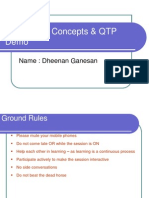 Automation Concepts and QTP Session