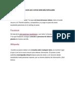 CUÁLES SON LOS 3 SITIOS WEB MÁS POPULARES