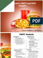 McDonalds SWOT and PEST-1