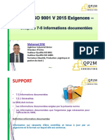 ISO9001V2015 - Support 7-5 Informations docume