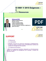 ISO 9001v2015 - Support 7-1 Ressources