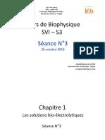 Biophysique Séance 04