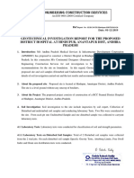 Geotechnical Investigation Report  - District Hospital Hindupur