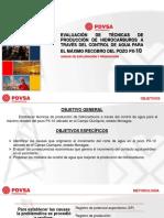 EVALUACIÓN DE TÉCNICAS DE PRODUCCIÓN DE HIDROCARBUROS A TRAVÉS DEL CONTROL DE AGUA PARA EL MÁXIMO RECOBRO DEL POZO PX-10