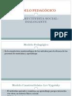 MODELO PEDAGÓGICO CONSTRUCTIVISTA SOCIAL-DIALOGANTE