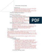 Lecture Exam 3 Review Sheet (bio final)