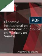 El cambio institucional en la administración pública en México y en Sinaloa